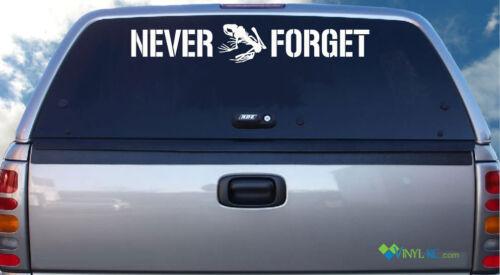 Never Forget Vinyl Windshield Decal Sticker DEVGRU Team Six 6 Frog Skeleton