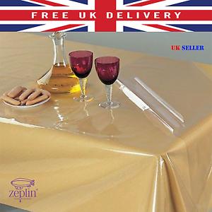 PVC Table Protector Vinly Essuyer Clair Transparent Nappe Salle À Manger Housse tissu