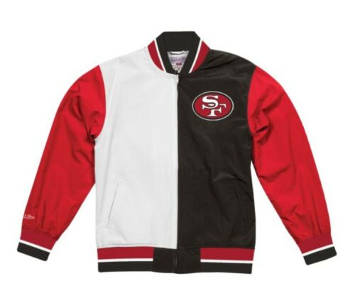 Authentic San Francisco 49ers Super Bowl Champs NFL Mitchell Ness Warm up Jacket