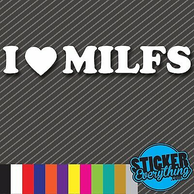 JDM Tuner I Heart MILFs Decal Import Truck Funny