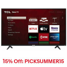 "TCL 55S435 55"" 4K Ultra HD HDR Roku Smart LED TV"