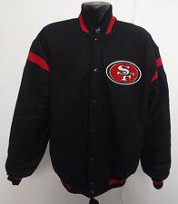 SAN FRANCISCO 49ERS NFL WOOL SATIN REVERSIBLE JACKET FOOTBALL STITCH NEW MENS LG