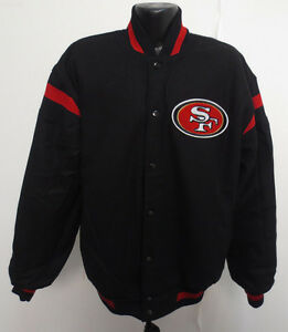 033581277d1 SAN FRANCISCO 49ERS LARGE NFL WOOL SATIN REVERSIBLE JACKET FOOTBALL ...