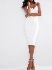 Vestido De Corsé de detalle Buceo (T2) RRP £ 40 UK8 Marfil