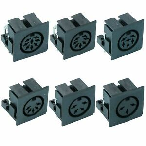 PCB DIN Audio Connector Socket - 3 to 8 Ways
