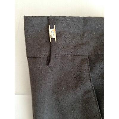 BHS GIRLS school trousers/pull up/elasticated waist BLACK GREY AGE 4-13 yrs BNWT