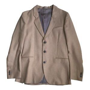 Paul Smith MAINLINE  Sand colour 3 button Slim Casual Jacket Woven Linen 38 / 48