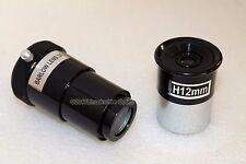"Optical Hardware basic 1.25"" 12mm telescope eyepiece + 3x barlow lens bundle"