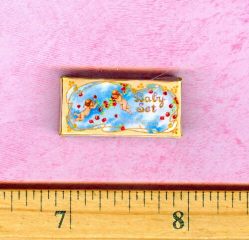 Dollhouse Miniature  size Cupids on a BABY Set Box