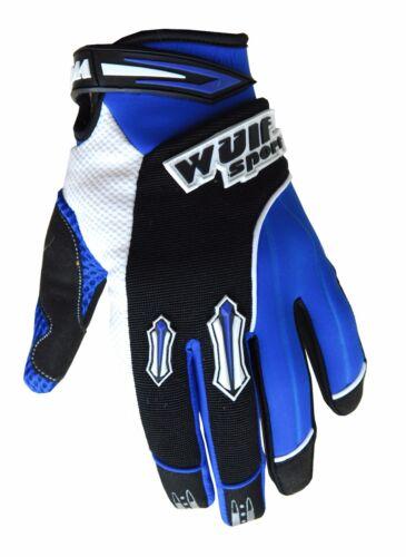 Kids Wulfsport MX Overall Glove Boot Helmet Neck Brace Goggle Blue Camo #XO11