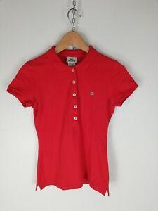 LACOSTE-Maglia-Maniche-Corte-Polo-Shirt-Maglia-Tg-36-Donna