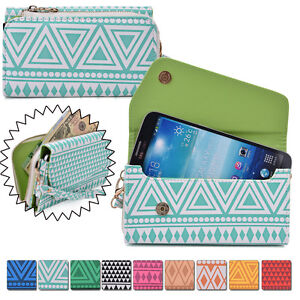 Convertible-Aztec-Smart-Phone-Wallet-Case-Cover-amp-Evening-Clutch-XLUC25