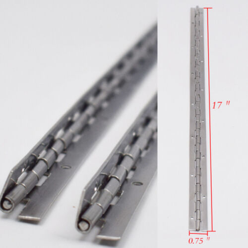 New Arrival 2PCS Stainless Steel 17 X 3//4 Inch Boat Piano Hinge Available