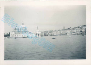Venice Italy Entrance To Grand Canal in 1950 3.25 x 2.25 inches