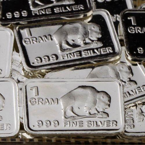 """/""""Buffalo/"""" Design 1 gram .999 Fine silver bullion bar /""""NEW/"""" Lot of 10"""