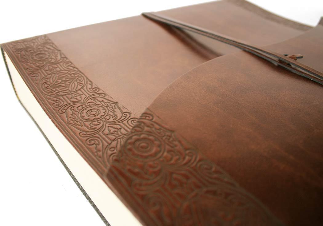 Maya Recyceltes Leder Fotoalbum, Large Geätzt Geätzt Geätzt - Handgefertigt in Italien fb35c5
