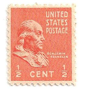 SC-803-1-2c-Benjamin-Franklin-Presidential-Single-MNH
