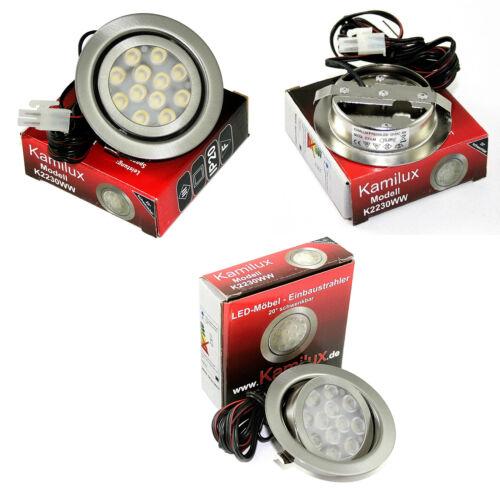 1-10er Sets plat ip20 installation Lampes Moo DEL 12 V Mobilier Luminaires 3 W
