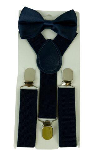 Kids Suspender /& Bow Tie Sets for Boys Girls Children Elastic /& Adjustable