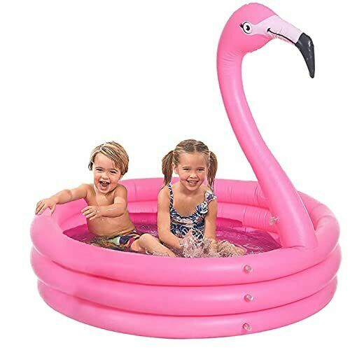 Inflatable Paddling Pool, Three Ring Swimming Pool for Kids, 130*130*120cm Indor