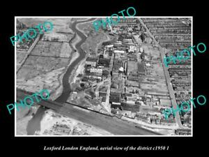 OLD-LARGE-HISTORIC-PHOTO-LOXFORD-LONDON-ENGLAND-AERIAL-VIEW-OF-DISTRICT-c1950-2
