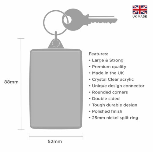Gay Pride London 2019 Keyring /& Bag Tag LGBT Rainbow Flag