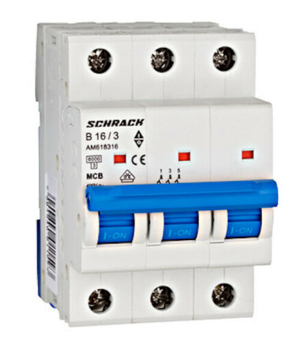 C40 1- und 3-polig LS Automaten Fabrikat SCHRACK AMPARO B10 C6 B32
