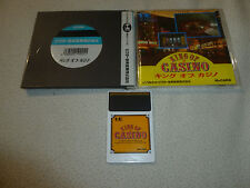 JAPANESE IMPORT TURBOGRAFX 16 KING OF CASINO HU CARD GAME COMPLETE W CASE MANUAL