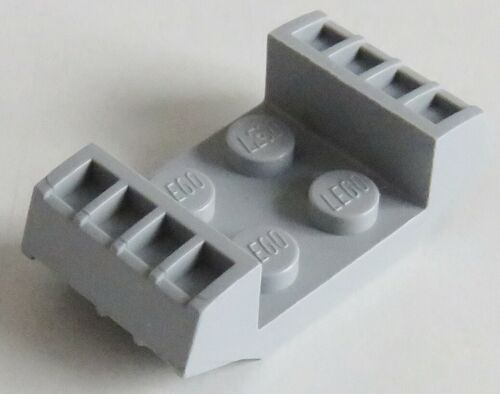 LEGO 2 Stück Platte / Plate 2 x 2 mit Rillen hell blaugrau # 41862