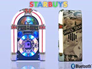 Details about Jukebox Tabletop CD Player Radio Bluetooth Speaker Lights -  Compact Mini Jukebox