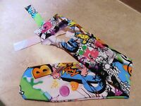 Sleazy Sleepwear Groom Bathing Showtail Bag Tailbag Zap Boom Cartoon Neon Colors