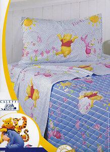Completo Letto Lenzuola Cotone Singolo Disney Caleffi Winnie Pooh Cuori Ebay