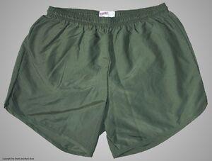 Soffe-Olive-Drab-Nylon-Military-P-E-PT-Running-Track-Shorts-Men-039-s-Small