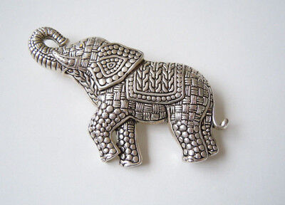 Fashion Jewelry Jewelry & Watches 6,3 X 4,7 Cm Hochwertige Silberfarbene Elefant Brosche Mit Strass Auge 28,3 G