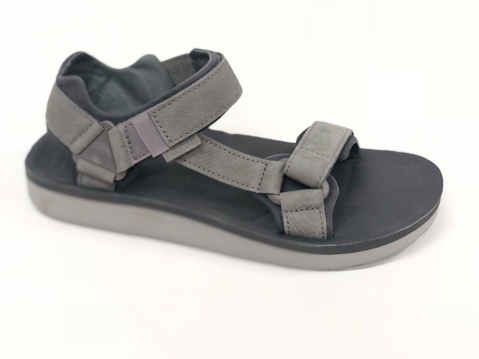 Teva Uomo Original Universal Premier Pelle Casual Sandals Charcoal Grey 1015928