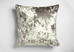 UK-MADE-DEEP-THICK-PILE-CRUSHED-SILVER-GREY-VELVET-CUSHION-COVER-8-99-EACH