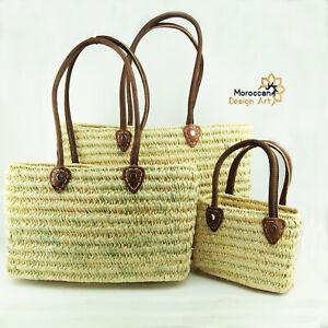 Straw bag French Basket french market basket Beach Bag Handmade Moroccan Basket