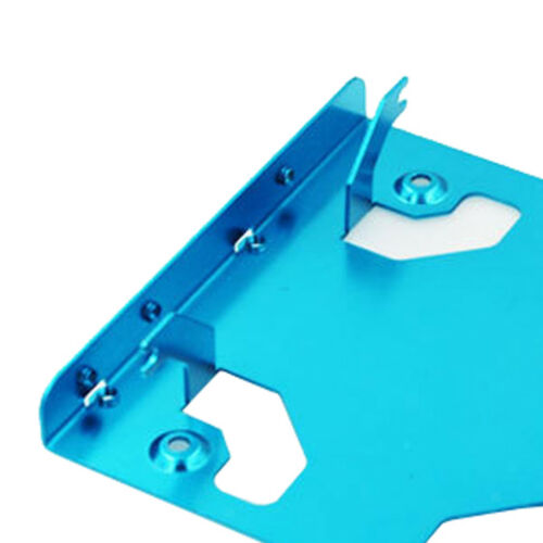 """2.5/"""" SSD HDD to 3.5/"""" Metal Mounting Adapter Bracket Dual Hard Drive Holder"""