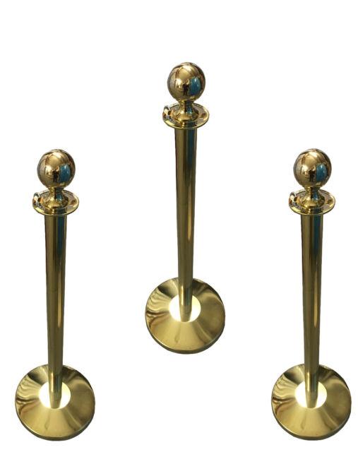 Absperrung Personenleitsystem Absperrpfosten Abgrenzung 1 Kordel Gold Elegant