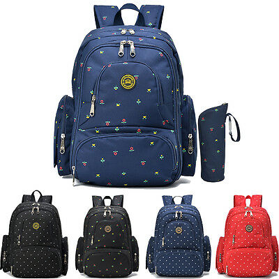 Fashion Multifunctional Mommy Bag Baby Diaper Nappy Changing Bag Backpack