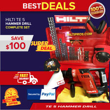 Hilti Te 5 Drill Excellent Condition Free Laser Amp Extras Fast Ship