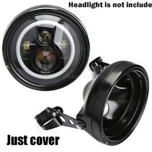7-034-Moto-Phare-Feux-Avant-LED-Headlight-Mount-Feux-Support-Pour-Harley-Davidson