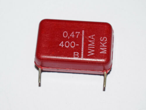 50 PIECES WIMA MKS 0.47uF 400v METALLIZED POLYESTER CAPACITOR