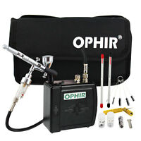 Ophir Compressor Airbrush Set Kit With 0.2mm,0.3mm,0.5mm Tips For Hobby