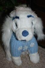 "NEW Disney 13"" LADY & The Tramp White Snowflake Sweater Winter Plush  NWOT  #AA2"