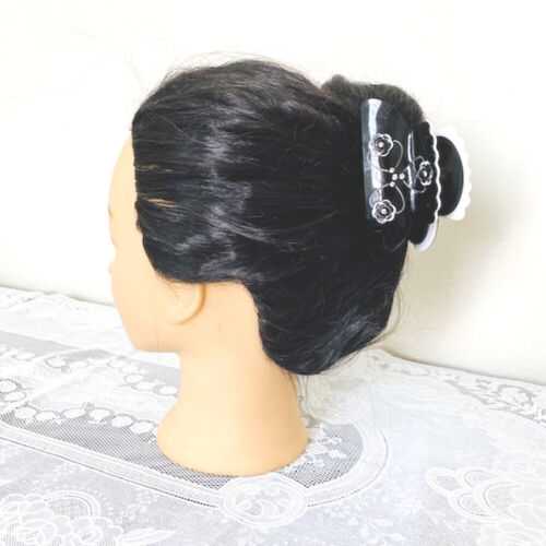 Details about  /Black and White Hair Jaw Claw Clip