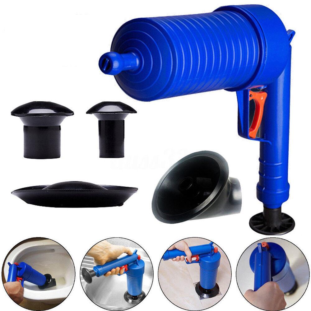 Plunger Opener Toilet Cleaner Kit High Pressure Air Drain Pu