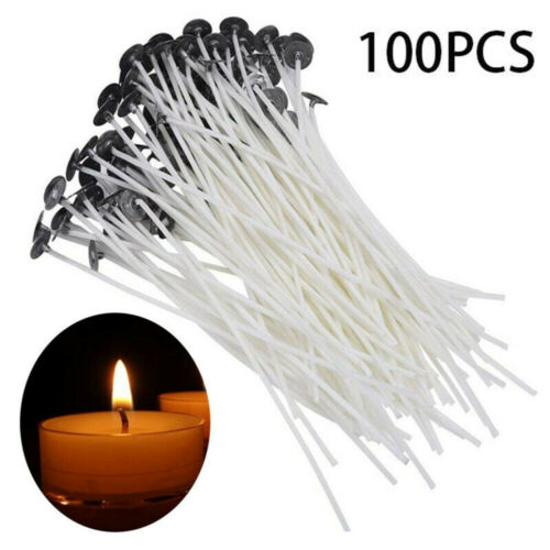 100pc 6 Inch Candle Wicks Pre-Waxed Wick For Cotton Core Candles DIY Making