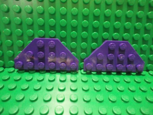 Lego 2 Dark Purple 3x6 wedge plate with cut corners wings ship NEW