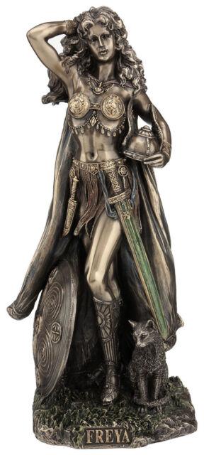 "Statue of Skadi the Noris Goddess of Winter 9.5/"" Tall Figurine Viking Legend"